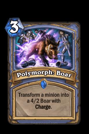polymorph boar hearthstone kártya
