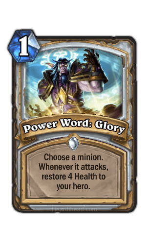 power word glory hearthstone kártya