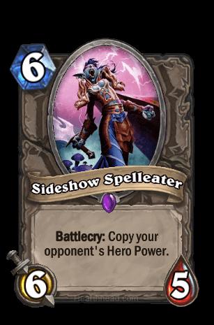 sideshow spelleater hearthstone kártya