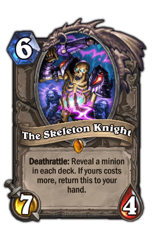 the skeleton knight hearthstone kártya