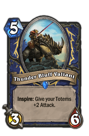 thunder bluff valiant hearthstone kártya