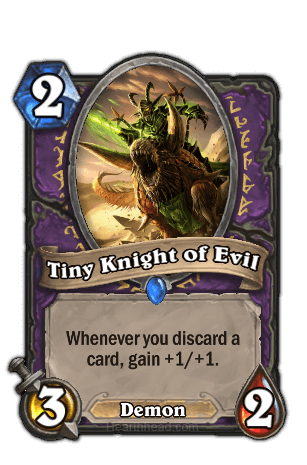 tiny knight of evil hearthstone kártya