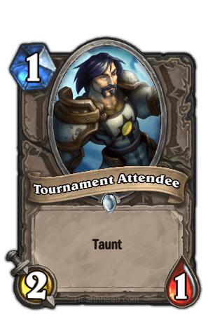 tournament attendee hearthstone kártya