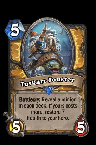 tuskarr jouster hearthstone kártya