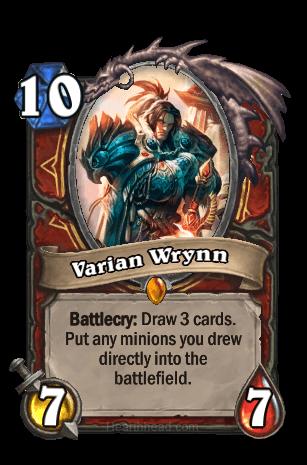 varian wrynn hearthstone kártya