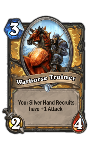 warhorse trainer hearthstone kártya