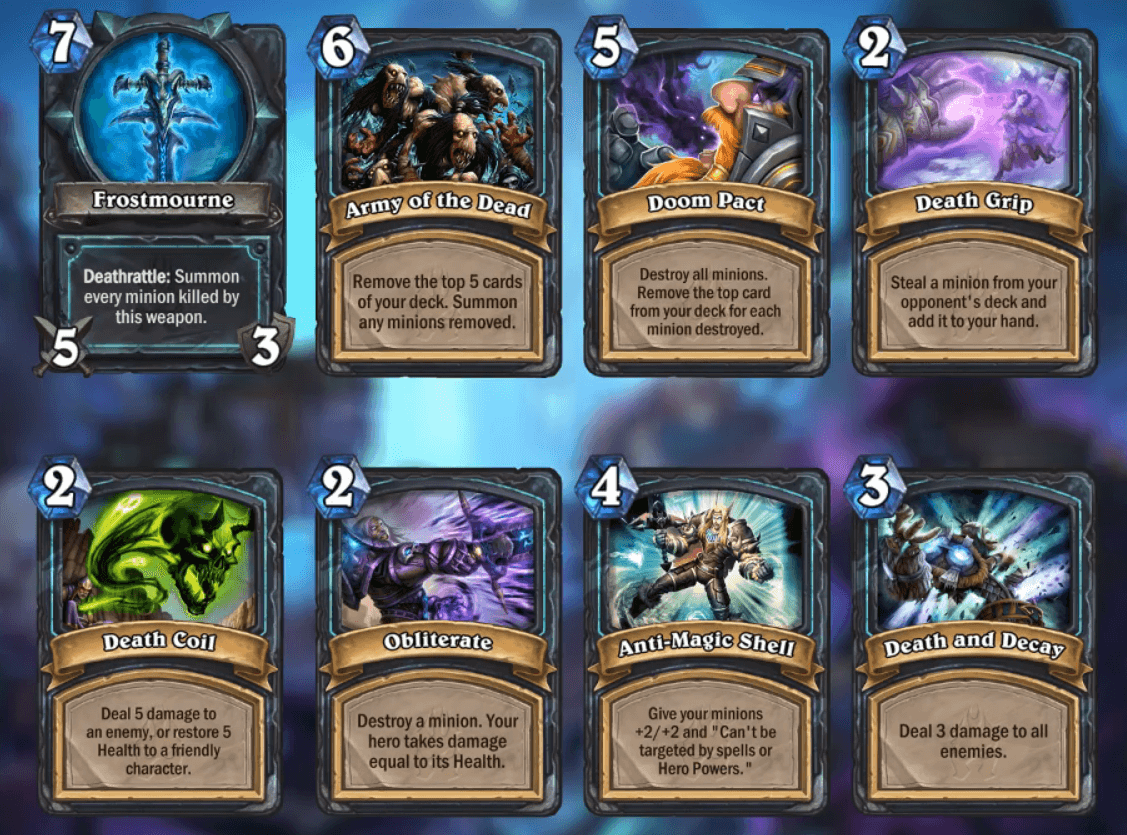 death knight kártyák