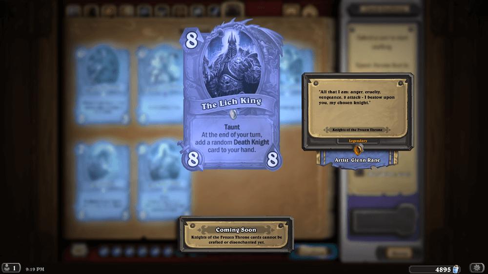 Patch 9.0: Frozen Throne, Arthas hős, Kalózok Napja esemény, új Brawlok, ingyenes kártya csomagok és sok más