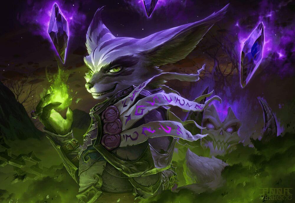 Vulpera warlock artwork