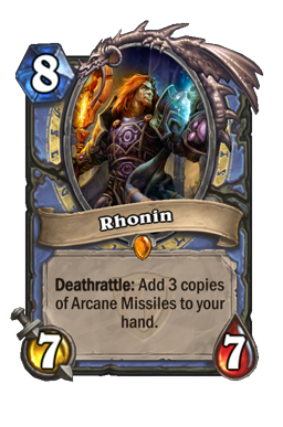 rhonin legendary kártya disenchant Naxxramas Hearthstone