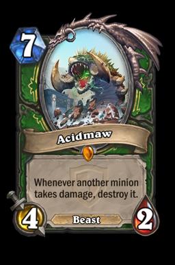 acidmaw legendary kártya disenchant Naxxramas Hearthstone