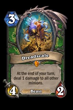 dreadscale legendary kártya disenchant Naxxramas Hearthstone