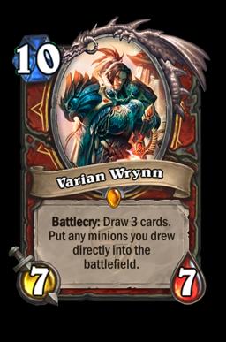 varian legendary kártya disenchant Naxxramas Hearthstone