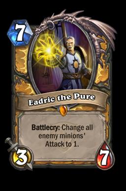 eadric legendary kártya disenchant Naxxramas Hearthstone