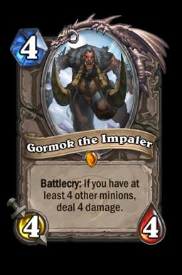 gormok legendary kártya disenchant Naxxramas Hearthstone