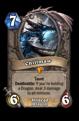 chillmaw legendary kártya disenchant Naxxramas Hearthstone