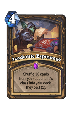 Academic Espionage