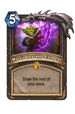 Myra's Unstable Element