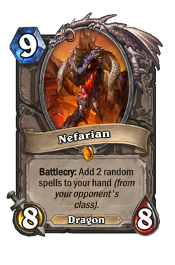 nefarian legendary kártya disenchant Naxxramas Hearthstone
