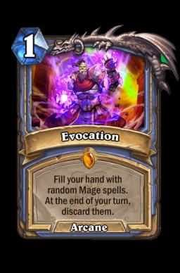 Evocation Hearthstone kártya