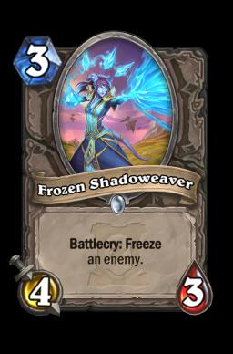 Frozen Shadoweaver Hearthstone kártya