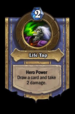 Life Tap Hearthstone kártya