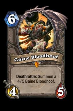 cairne legendary kártya disenchant Naxxramas Hearthstone