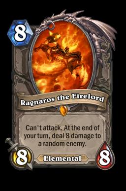 ragnaros legendary kártya disenchant Naxxramas Hearthstone
