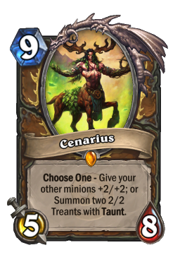 Cenarius legendary kártya disenchant Naxxramas Hearthstone