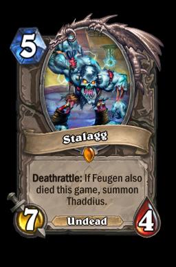 stalagg legendary kártya disenchant Naxxramas Hearthstone