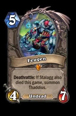 Feugen legendary kártya disenchant Naxxramas Hearthstone