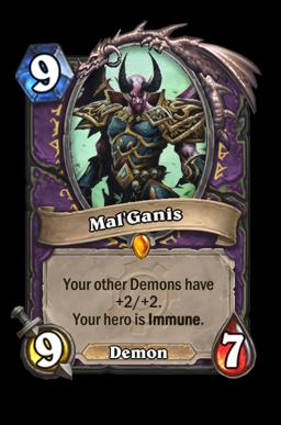 malganis legendary kártya disenchant Naxxramas Hearthstone