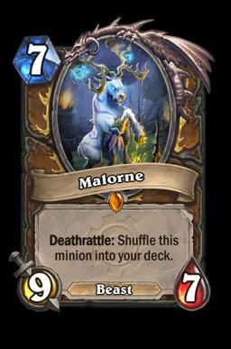 malorne legendary kártya disenchant Naxxramas Hearthstone
