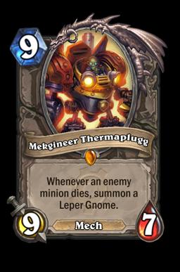 Therma legendary kártya disenchant Naxxramas Hearthstone