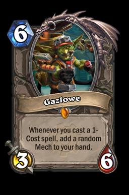 Gazlowe legendary kártya disenchant Naxxramas Hearthstone