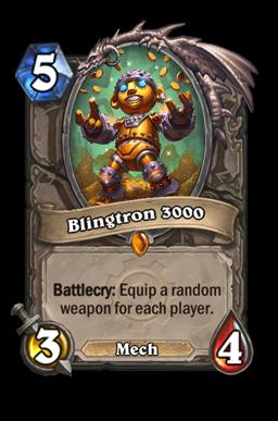 Blingtron legendary kártya disenchant Naxxramas Hearthstone