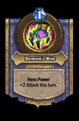 Demon's Bite Hearthstone kártya