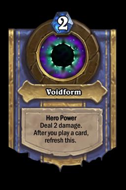 Voidform Hearthstone kártya
