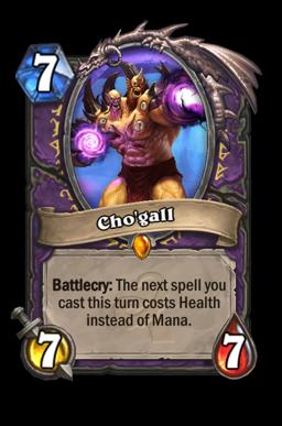 chogall legendary kártya disenchant Naxxramas Hearthstone