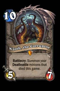 nzoth legendary kártya disenchant Naxxramas Hearthstone