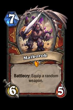 malkorok legendary kártya disenchant Naxxramas Hearthstone