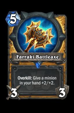 Farraki Battleaxe