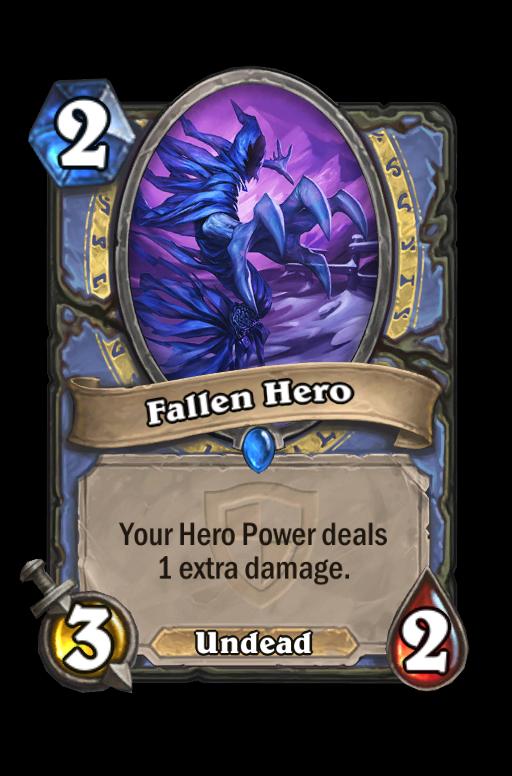 Fallen Hero Hearthstone kártya