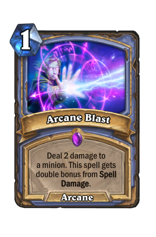 Arcane Blast Hearthstone kártya