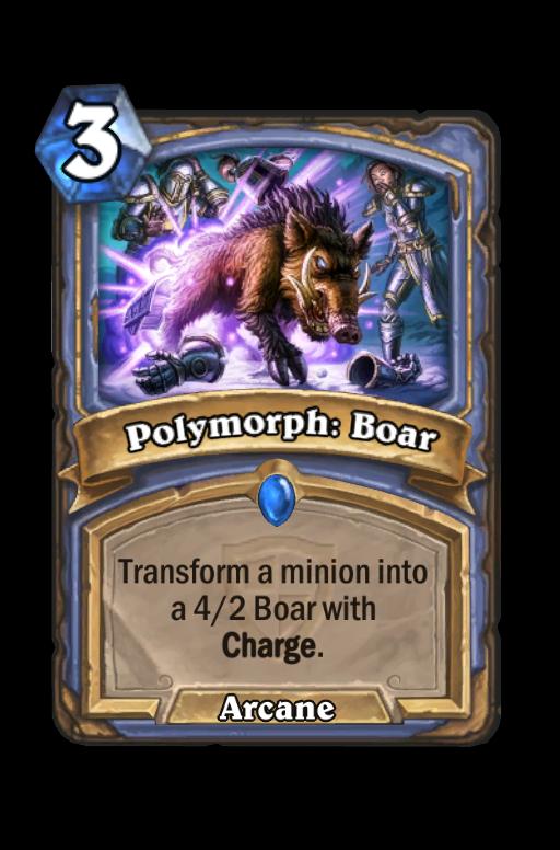Polymorph: Boar Hearthstone kártya