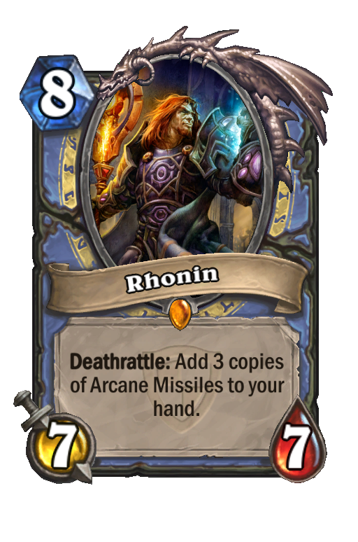 Rhonin Hearthstone kártya