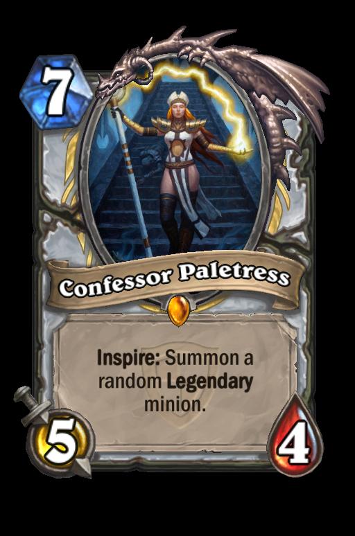 Confessor Paletress Hearthstone kártya