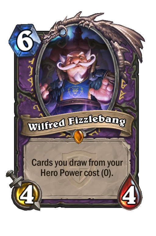 Wilfred Fizzlebang Hearthstone kártya