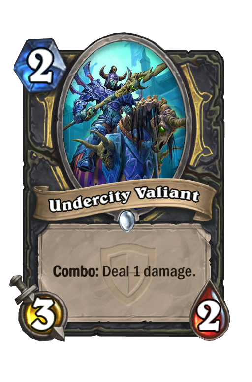 Undercity Valiant Hearthstone kártya