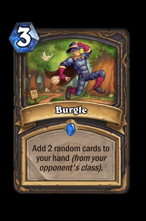 Burgle Hearthstone kártya
